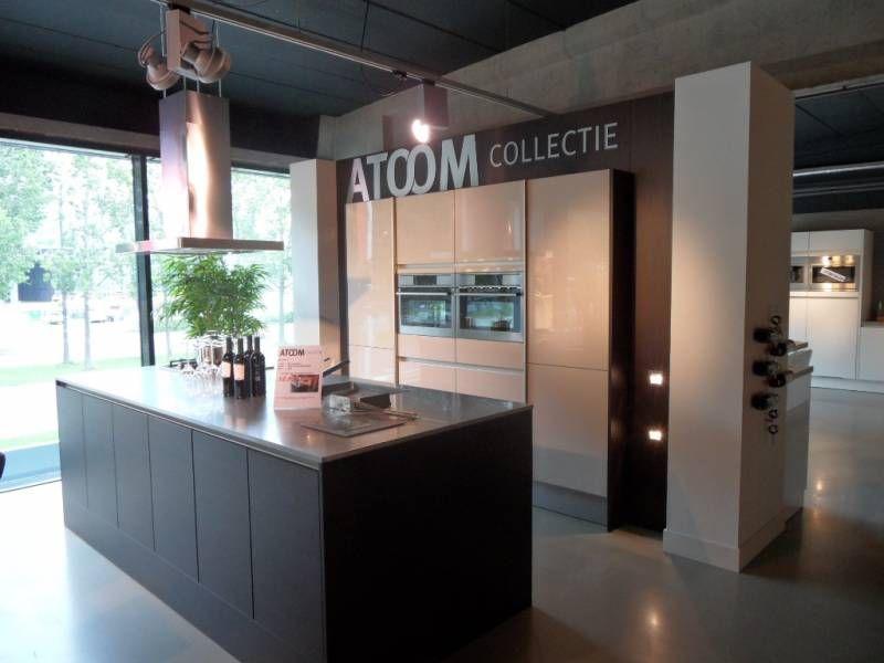 Keuken Kookeiland Showroom : aanbiedingen Greeploze eiland keuken met kastenwand [35507
